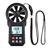 Proster Digital Anemometer Wind Speed Meter Anemometer Meter Air Velocity Air Temperature Test with Flashlight for Windsurfing Kite Flying Sailing Surfing Fishing