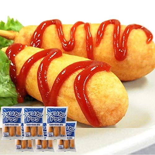 [スターゼン] アメリカンドッグ 2.4kg 30本 (5本×6) 業務用 冷凍食品 冷凍 おやつ おつまみ パーティ ー