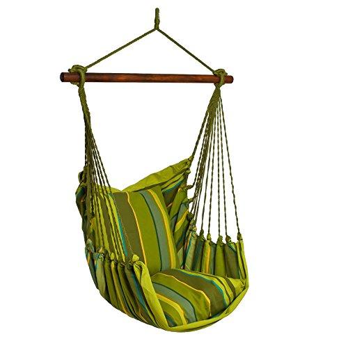 maDDma ® Hängesessel Relax Baumwolle Streifen ohne Kissen, Hängesitz Hängestuhl, Farbwahl, Farbe:Mehrfarbig 2