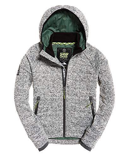 Superdry Herren Storm Quilted Ziphood Pullover, Grau (Grey Granite Marl Vm3), Small