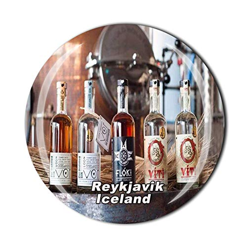 Eimverk Destillerie Reykjavik Island Kühlschrank Magnet Reise Souvenir Geschenk Heim Küche Dekoration Magnet Sticker Kristall Kühlschrank Magnet Kollektion