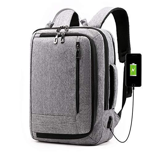 Mochila para ordenador portátil, bolsa de viaje con puerto de carga USB, bolsas para portátiles para mujeres y hombres, se adapta a fundas de ordenador portátil de 15.6 pulgadas