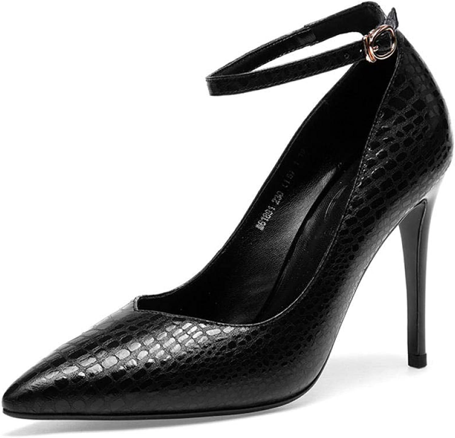 Damen High Heels Klassische Pumps Spitz sexy Schlangenleder Damen Pumps Pumps  authentisch