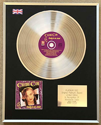 Century Music Awards - CULTURE CLUB - Disque platine CD édition limitée - KISSING TO BE CLEVER