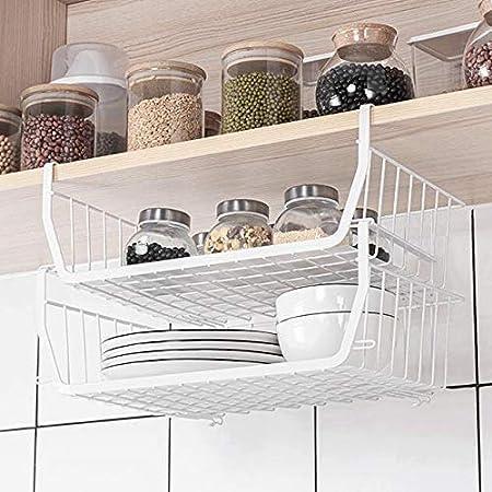 吊り下げ棚 3個セット 戸棚下収納ラック 吊り下げラック キッチン収納ラック 積み重ね使用可能 荷重5kg キッチン用 バスルーム用