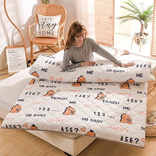 ZHANGLE Faltbare japanische Tatami-Matratzenmatte, Bodenmatratze Futon-Matratze, Home Guest Room Dormitory Cartoon-Matratze, Full-Size-Bettschutzauflage,08,Twin