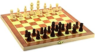 dazzling toys Wooden Chess Board Game Family Folding Board Portable Travel Game!