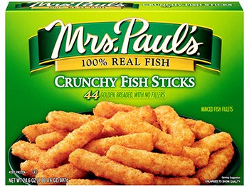 MRS PAUL'S SEAFOOD CRUNCHY Limited time sale FISH STICKS OF OZ 2 24.6 Long-awaited PACK