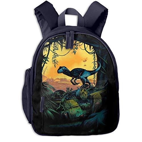 xiameng Dinosaurs Jurassic Park Kids Backpacks School Bags for Boys Girls Pre School Bag Cute Cartoon Backpack Sized for Kindergarten, Preschool
