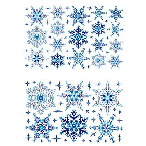 Hangarone Pegatinas de Navidad para ventana, adhesivo estático, PVC, para puerta corredera, escaparate, pegatinas de Navidad, vitrinas, ventanas de cristal, decoración