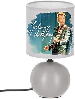 PRESENT Lampe de chevet JOHNNY HALLYDAY - création artisanale Collage photo N° 3