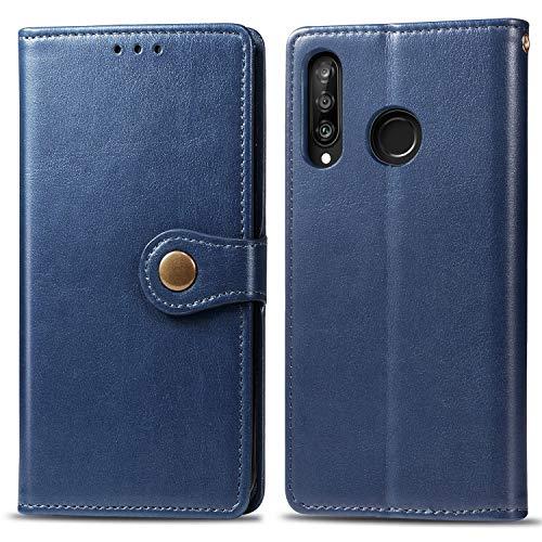 Oihxse Compatibile per Xiaomi Mi A3 Cover,Pelle Portafoglio Flip Funzione Stand Cover Xiaomi Mi A3 Silicone a Libro Antiurto Portafoglio con Slot per Schede Chiusura Magnetica (blu)