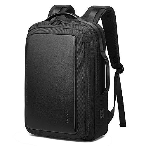 [Bange(バンゲ)] ビジネスリュック バックパック メンズ 拡張可 大容量 3way USBポート&イヤホン穴 (ブラック)