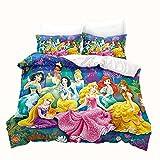 LKFFHAVD Juego de cama de princesas Disney – Juego de ropa de cama Rapunzel...