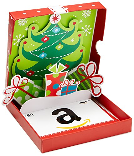 Amazon.com $50 Gift Card in a Holiday Pop-Up Box