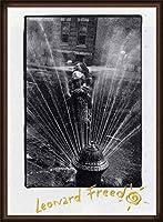 ポスター レナード フリード Harlem New York/Freed 額装品 ウッドハイグレードフレーム(オーク)