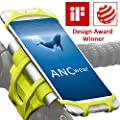 Bike Motorcycle Phone Mount, ANCwear 5-in-1 Portable Phone Holder, Adjustable Silicon Universal Fit Handlebars and Smart Phones Like iPhone Xs Max R X 8 Plus 7 Samsung by Enke-smart