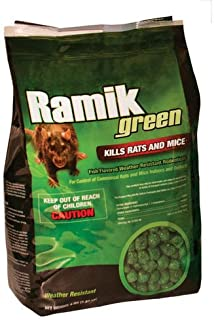 Ramik 116339 Poison Brute 4 Pound Pack Nuggets Green Rat Mouse And Rodent Killer