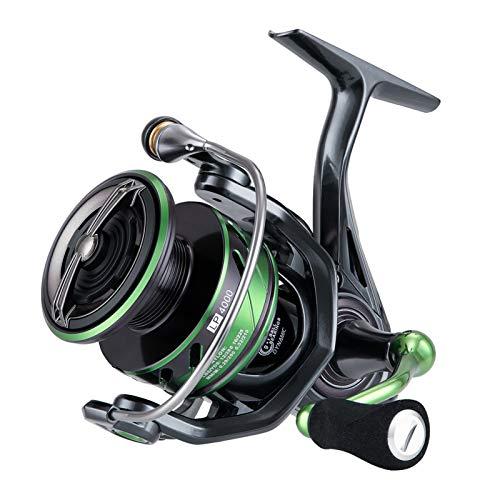 Seaknight WR III 5.2:1 Carrete de Pesca de Agua Dulce, Ultralight Carretes de Spincasting, Sistema de Arrastre de Fibra de Carbono, Carrete de Pesca de la Carpa 2000 2500 3000 4000 5000 MAX 28.6LB