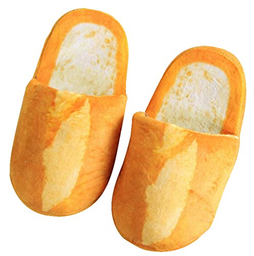 October Elf Adult Autumn Winter Slippers Warm Home Shoes (French Baguette, M)
