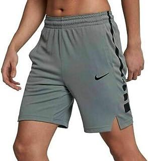 Nike Mens sz XL Elite Stripe 9 Dri-Fit Shorts Gray/Blck Basketball