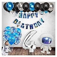 バルーン 宇宙パーティーの誕生日の装飾子供お誕生日おめでとうバナー宇宙飛行士のバルーンベビーシャワー風船 (Color : 4)