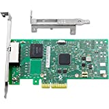 Vogzone for Intel I350-T2 Gigabit Ethernet Server Adapter Dual RJ45 Port PCI Express (PCIe x4) GbE Network Card with Intel I350AM2 Chipset