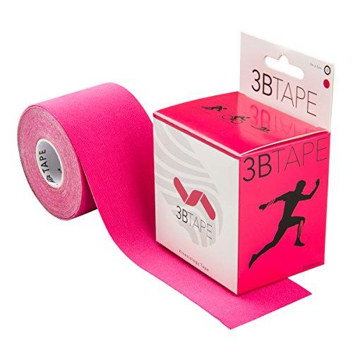 3B Scientific Kinesiologie Tape - [5 m x 5 cm] - Tape/Übungsband für die Unterstützung von Muskeln und Gelenken, Verbesserung von Regeneration, Sport Tape - Pink