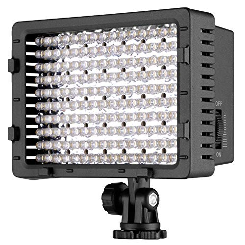 Neewer Pannello LED 160pcs da Potenza Ultra Alta Regolabile per Camera Digitale/Videocamera Video Luce/Luce LED per Camera Digitale SLR Canon Nikon Pe