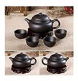 Auténtico Yixing Dragon Tetera Sets 5pcs Ceramic Purple Clay Kung Fu Tea Juego de té 1 Tetera + 4 Tazas Conjunto de Tetera...