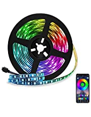Eleadsouq LED Strip Light, Smart 2 Meters 120 LEDs Bluetooth USB Light, Colorful Seasonal Decor RGB Multicolor Rope Lighting, Sync to Music for HDTV Laptop Monitor Home Bedroom Indoor Decoration