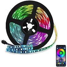 LED Strip Light, 2M 5050 RGB Waterproof Lights, Home Decoration Lighting Strips, Smart Color Changing Led Strip Kit for Be...