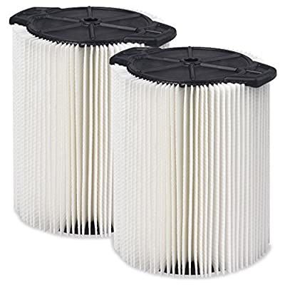 WORKSHOP Wet Dry Vac Filters WS21200F2 Standard Wet Dry Vacuum Filters (2-Pack - Shop Vacuum Filters) For WORKSHOP 5-Gallon To 16-Gallon Shop Vacuum Cleaners