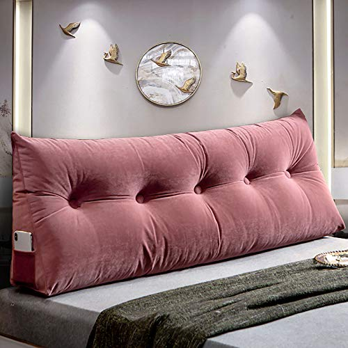 Bedroom Headboard Cushion Long Back Cushion Support Reading Pillow Sofa Cushions for Back Leg Backrest HeadBoard with Removable Pillowcase