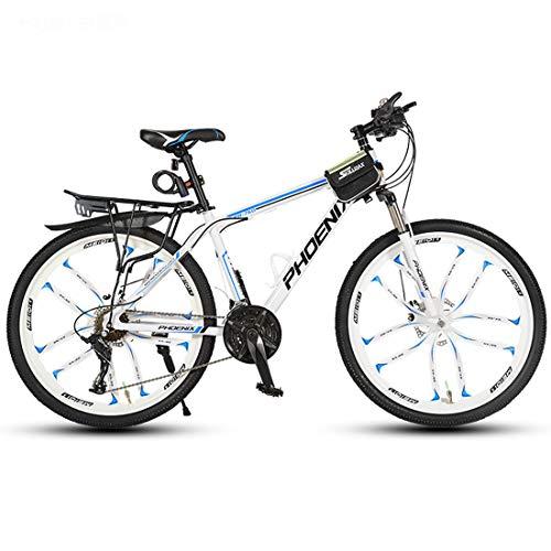 CPY-EX 26-Zoll-Räder, Fahrrad Mountainbike, Aluminium Rahmen, Doppelscheibenbremse, 21/24/27/30 Geschwindigkeit, 10 Schneidrad,B,21