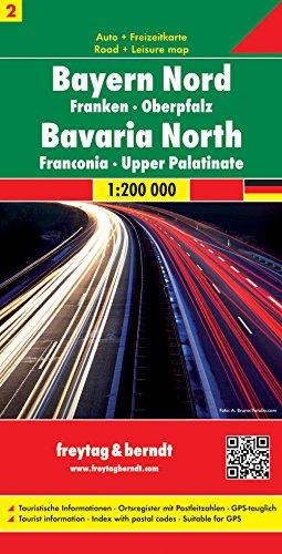 Bayern Nord - Franken - Oberpfalz, Autokarte 1:200.000