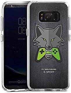 DeinDesign Samsung Galaxy S8 Bumper Hülle transparent Bumper Case Schutzhülle VFL Wolfsburg Esport Merchandise Fanartikel