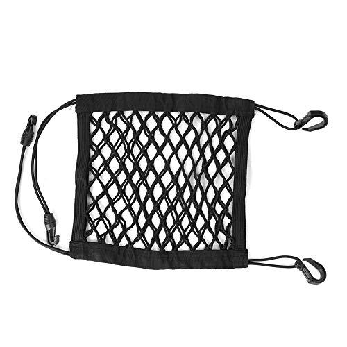 Weikeya Borsa organizzata per il sedile, tasca per console nera liscia ed elastica, non facile da cadere, rete robusta e robusta + polipropilene