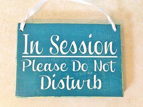 in Session Please Do Not Disturb 8x6 (Choose Color) in Progress Shhh Quiet Please Soft Voices Spa Salon Massage Facial Consultation Service Custom Wood Sign