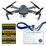 FAA Drone Labels (2 Sets of 3) + FAA UAS Registration ID Card for...