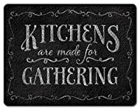 Chalk It Up Kitchens are Made for Gathering Tempered Glass Large Cutting Board by Highland Graphics [並行輸入品]