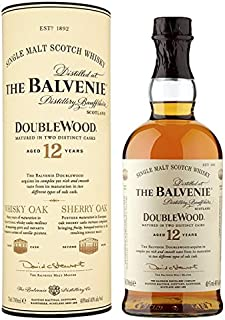 Die Balvenie Double Alter 12 Jahre Single Malt Scotch Whiskey 70cl Packung mit 6 x 70cl