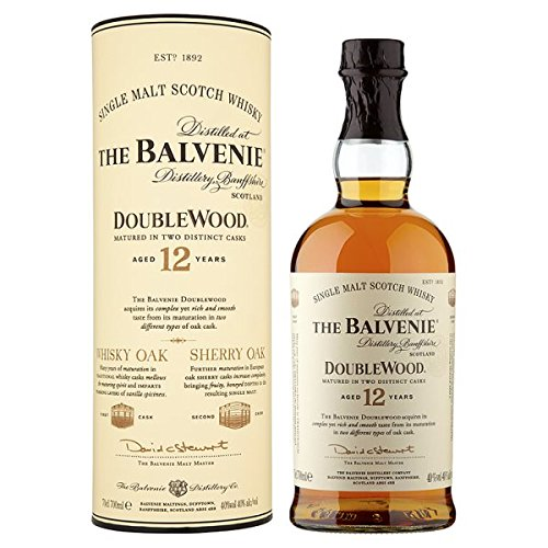 The Balvenie Double Aged 12 Years Single Malt Scotch Whisky 70 cl (Packung mit 70 cl)