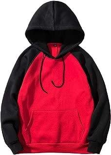 MogogoMen Pullover Hooded Fashion Sweatshirt Active Hooded Jacket