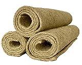 Tappeto di roditore realizzato al 100% in canapa, 130 x 60 cm 5mm di spessore, confezione da 3 (8,50 EUR / pezzo), tappetino per roditori adatto come rivestimento per pavimenti a gabbia