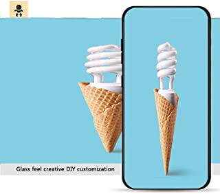 iPhone 7p / 8p Ultra-Thin Phone case Compact Fluorescent Bulb in ice Cream Cone Resistance to Falling, Non-Slip, Soft, Convenient Protective case