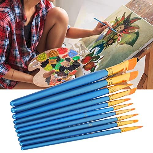 Juego de pinceles para pintar, juego de pinceles para pintura acrílica, pincel de nailon para el cabello, para acuarela, para exteriores, para estudio, para pintura al óleo, para acrílico
