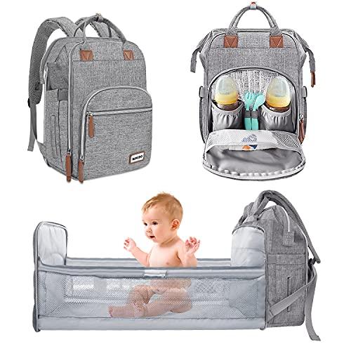 MIYCOO Baby Wickelrucksäcke Wasserdichte wickeltasche Rucksack Babytasche Reiserucksack Baby Wickeltasche für Mama & Papa