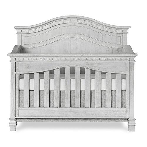 Evolur Cheyenne 5 in 1 Full Panel Convertible Crib, Antique Grey Mist