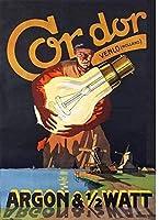 Condor Electric メタルポスター壁画ショップ看板ショップ看板表示板金属板ブリキ看板情報防水装飾レストラン日本食料品店カフェ旅行用品誕生日新年クリスマスパーティーギフト